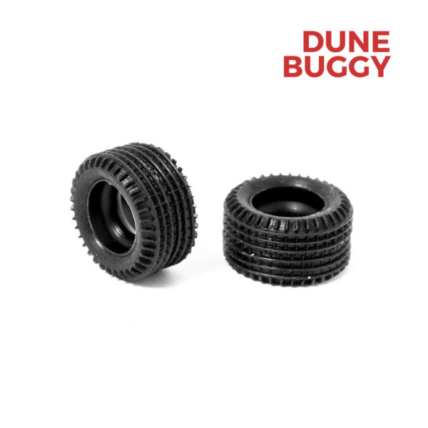 Rear Slot Car Tires for Dune Buggy Policar 1:32
