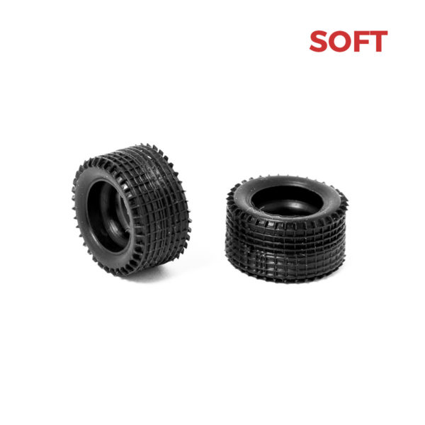 6 Soft Rear Slot Car Tires for Policar 1:32