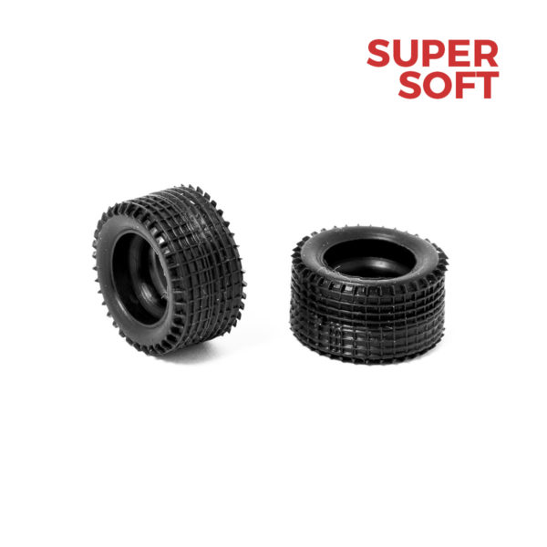 Super Soft Rear Slot Car Tires for Policar 1:32