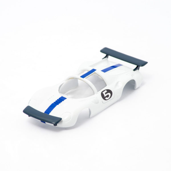 Slot Car Body 206 Dino Pininfarina 1/32 White/Blue for Policar