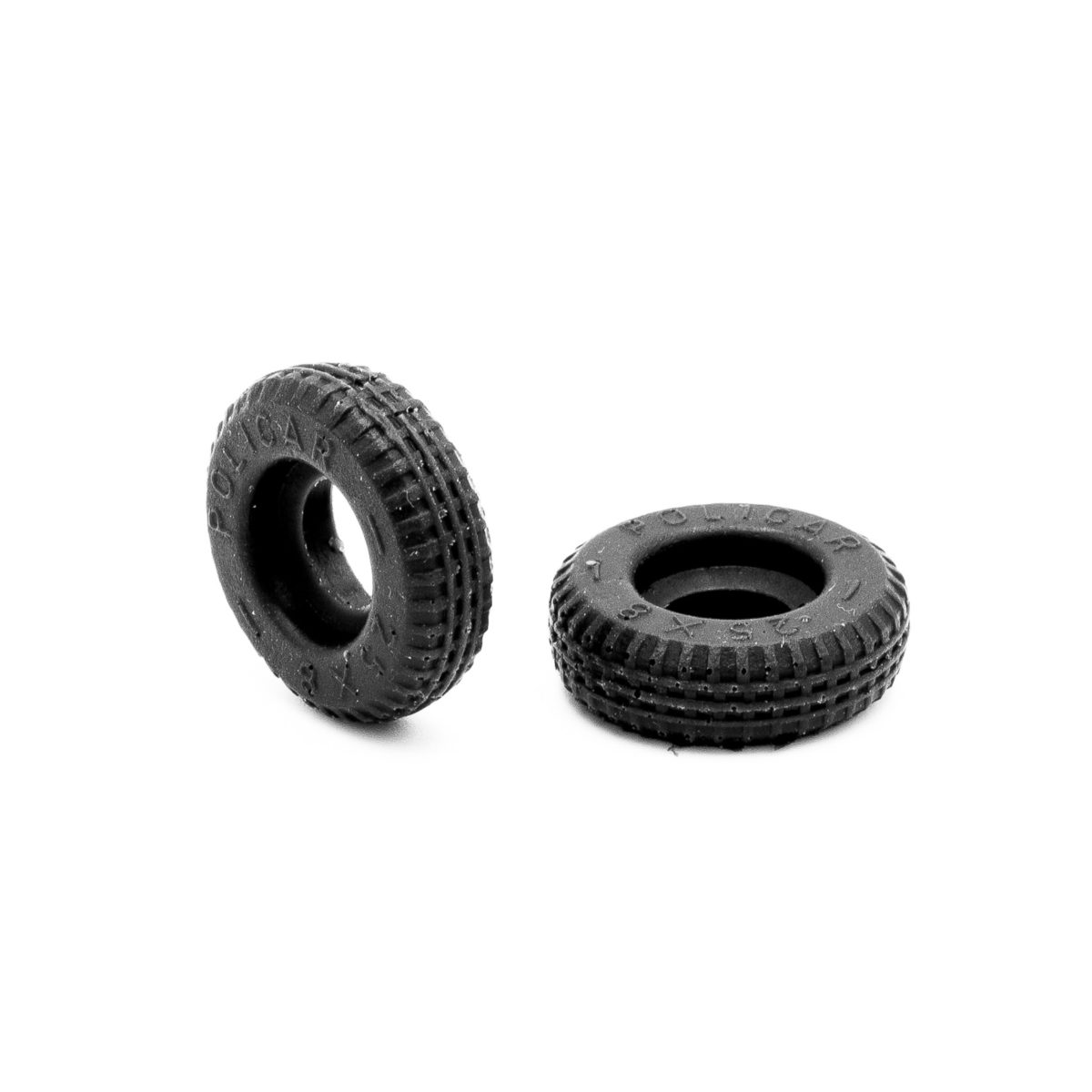 Rear Slot Car Tires for F1 60s Policar Steering Wheels 1:32