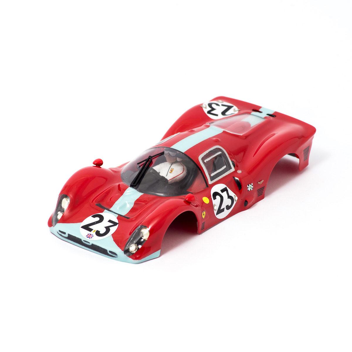 Slot Car Body Ferrari 412P 1/24 1967 Maranello Concessionaires