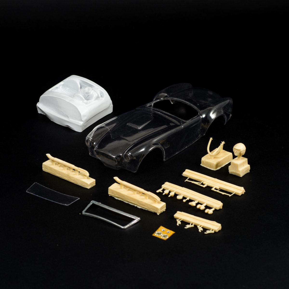 Slot Car Clear Body Body AC Cobra 427 Roadster 1965 1:24 UNICAR