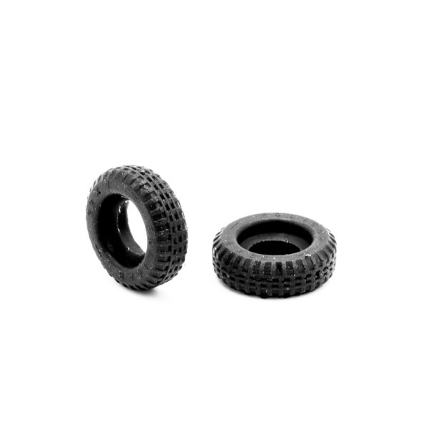 Front Slot Car Tires for F1 Steering Wheels 60s Policar 1:32