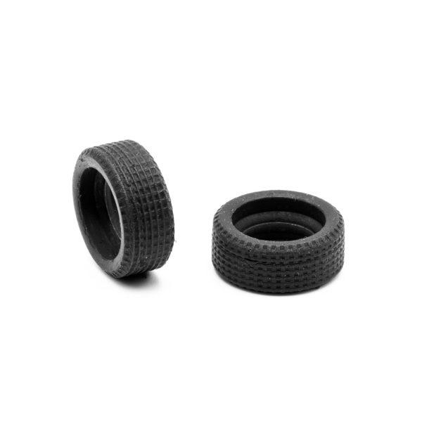 Rear Slot Car Tires for F1 Fixed Wheels 60s Policar 1:32