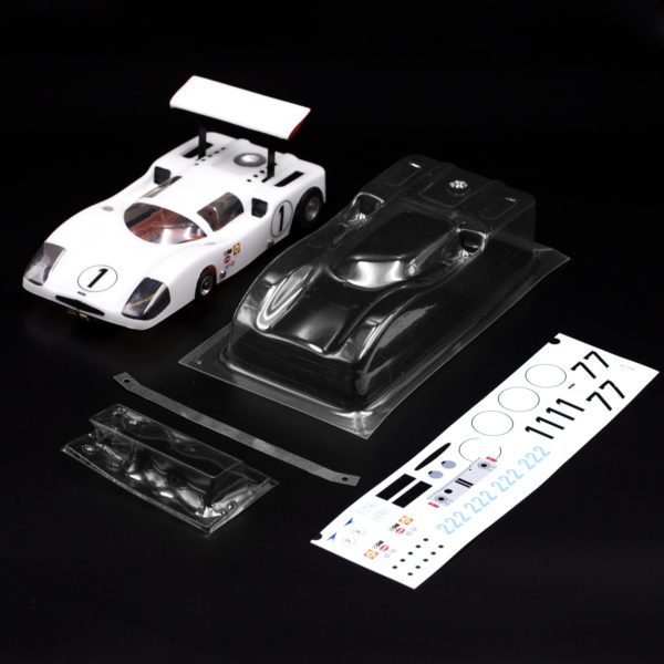 Carrozzeria Slot Car Chaparral 2F Kit Alettone Trasparente Replica Minidream