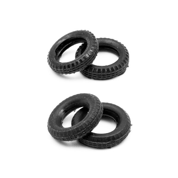 Set of 4 Tires for Slot Car Dromocar Giulia TZ 1:43