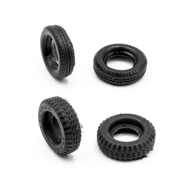 Set of 4 Tires for Policar Ford - Ferrari 1:32